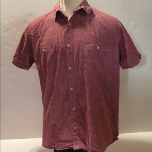 The Foundry Mens Size XLT Short Sleeve Button Down